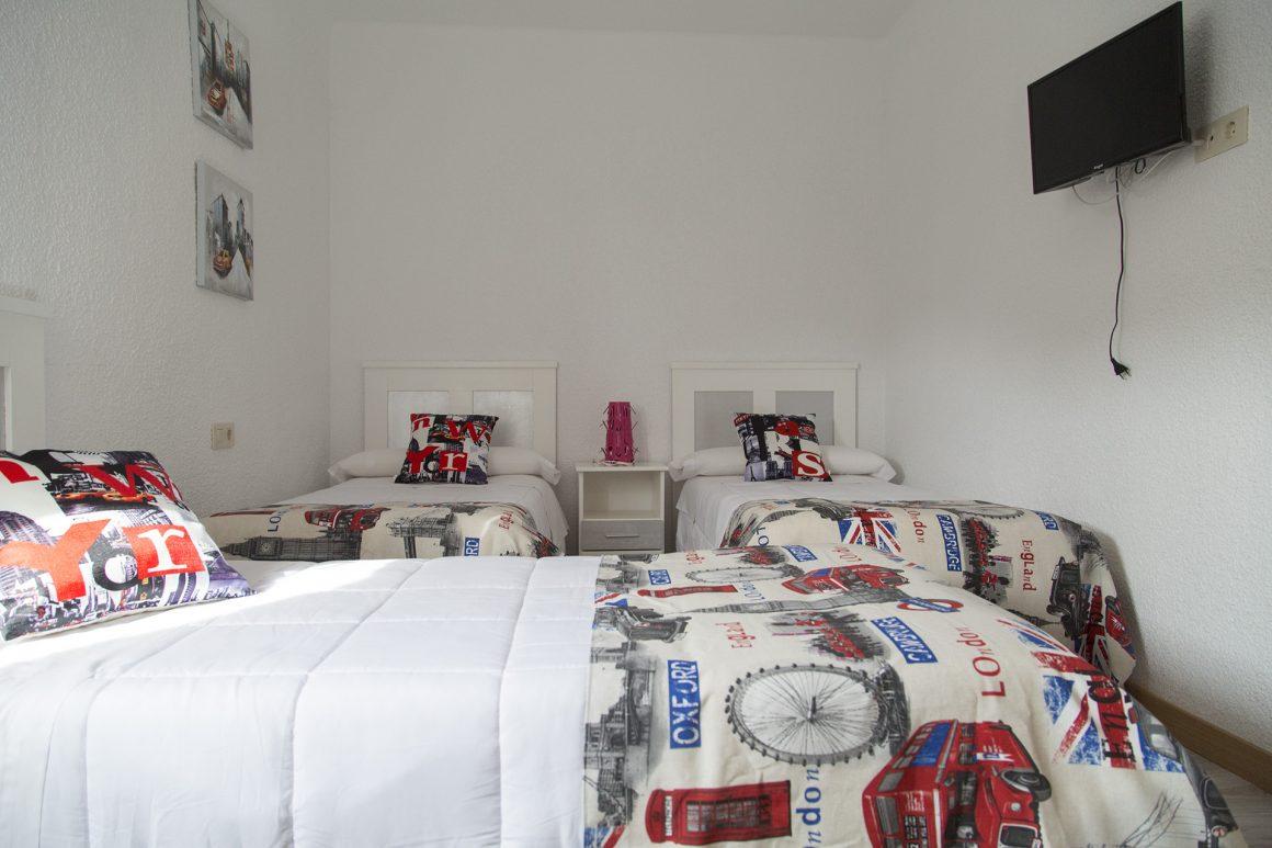Habitación triple (3 individuales)